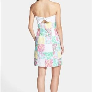 Lilly Pulitzer Franco Strapless Patchwork Dress 0